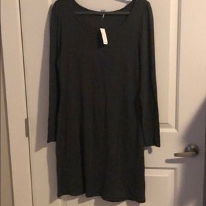 knit dress with long sleeves